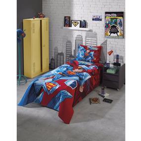 Kit Colcha Infantil Personagens Menino Superman /bob Esponja