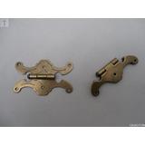 Dobradiça Borboleta Colonial Reta Ouro Velho 74mm Emb/2pçs