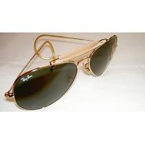 Óculos De Sol Caçador Lente Verde Com Mola
