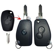 Capa Chave Canivete Alarme Renault Duster , Sandero , Logan
