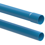Tubo De Pvc 35mm Pn60 Azul Pbl 06 Metros Cano P/ Irrigação