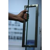 Jaladera Cuadrada Para Puerta Vidrio Madera Cristal Mazcomer