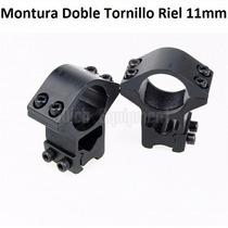 Monturas Mira Abierta Telescopica 11mm Doble Tornillo Ø25mm