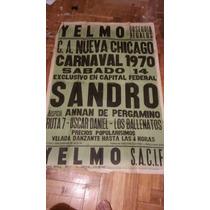 Afiche De 1970 Sandro Carnavales