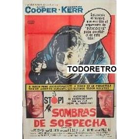 Afiche Sombras De Sospecha Gary Cooper, Deborah Kerr 1961