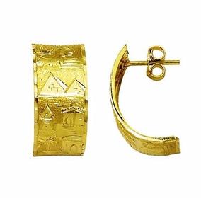 Brinco 3.3 Gr Escrava Egito Egipicio 11mm Ouro 18k