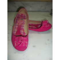 Zapatos Flats Castalia Color Fiusha P/dama 4 Mex. Seminuevos