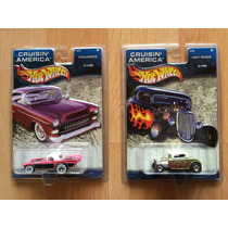 Set De 2 Autos Hot Wheels Cruisin America T-bird Ford 32 .