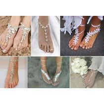 Sandalia Enfeite Acessório De Pé Noiva Casar Na Praia