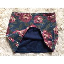 Mini Saia Abercrombie Paete Floral Original Feminina