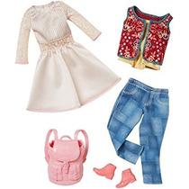 Juguete Barbie Moda Casual 2 Pack - Vestido Blanco