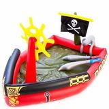 Piscina Barco Dos Piratas Inflável Com Jato De Água + Bomba