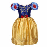 Branca De Neve Vestido Fantasia Princesa Infantil Festa