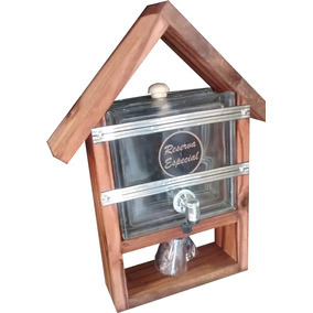 Pingometro Barato Casa Tijolo Vidro Transp 1 Litro+ Brinde