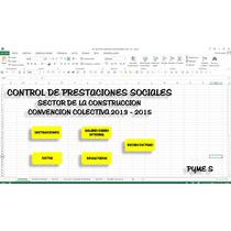 Calculo De Prestaciones Sociales , En Excel