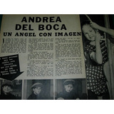 Andrea Del Boca Angel Imagen Clipping Revista Radiolandia