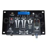 Mixer Mezcladora 3 Canales C/monitoreo Para Djs C/usb Sd