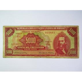 Cédula Antiga C108 Nota 5000 Cruzeiros Bc Rara Numismática 1