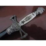 Punhal Cavalaria Cruzada Medieval - Adaga - Espada Branco