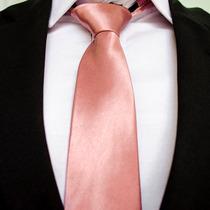 Gravata Rosa Seco Rosa Cha China Semi Slim Rosa Bataro