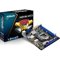Tarjeta Madre Asrock H61m-vg3 Intel H61 S-1155 Core I3 I5 I7