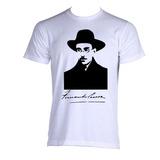 Camiseta Adulto Fernando Pessoa Poeta Poesia Literatura 04