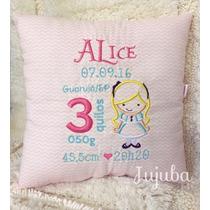 Almofada Personalizada Com Informações De Nascimento Do Bebê