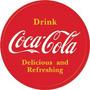 Coca Cola- Letrero Metálico - 30 Cm Diametro