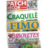Lote 4 Revistas Artesanato Craquelê Path Fimo Sabonetes - L4