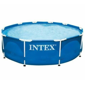 Piscina Intex Metalframe 305 X 76 De Tubo Familiar