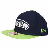 Boné New Era Aba Reta Snapback Aberto Nfl Seattle Seahawks