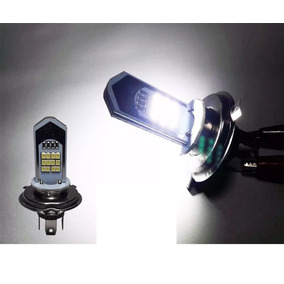 Lampada Farol Em Led H4 Para Motos Super Branca + Brinde