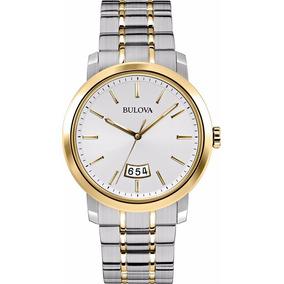 Reloj Bulova 98b214 Acero Inoxidable 40mm Fechero Analógico