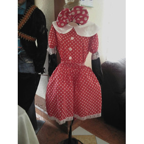 Disfraz Mimi Minnie Mouse Incluye Orejas Adulto