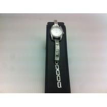 Reloj De Plata Ley 925 Con Piedras De Zirconia Para Dama.