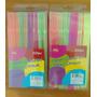 Pitillos Flexibles Fluorescentes Colores Neon, 225piezas