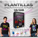 Plantillas Para Playeras Photoshop Cdr Eps Serigrafia 18gb
