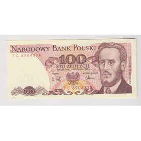Billete Polonia 100 Zlotych Año 1988 Sin Circular