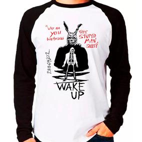 Camiseta Blusa Raglan M. Longa Filme Donnie Darko Wake Up C