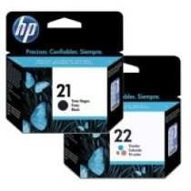 Kit Cartuchos Hp 21 Preto Pt E 22 Color Cl Original