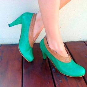 Botas Botitas Botinetas Zapatos En Cuero Charol De Mujer
