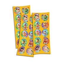 Adesivo 3 Cartelas Redondo Cocoricó Melhor Preço