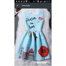 Vestidos Infanto-juvenil Vintage Importados - Frete Grátis