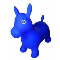 Cavalinho Upa Upa Pula Pula Azul Inflavel De Borracha