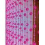 Cortina De Miçangas E Contas Cristal Acrílica Pink Delicada