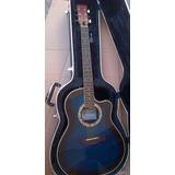 Guitarra Electroacustica Caraya Azul C/estuche Sp721ceq/tbls