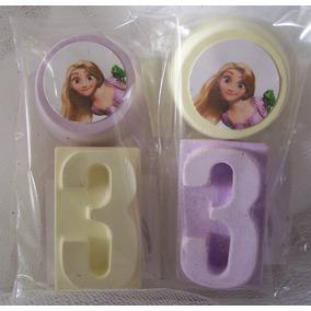 Souvenir Didáctico Cumple Rapunzel Tizas Y Pizarrón Ta Te Ti