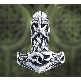 Pingente Martelo De Thor Mjölnir - Walhalla 3cm Com Colar