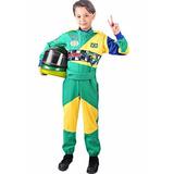 Macacão Infantil Fantasia Piloto / Corrida Formula 1
