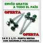 Autoperforante 14x2 1/2- Punta Mecha- Hexagonal- X 1000 Uni